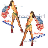 D1096 Maiden America Nose Art