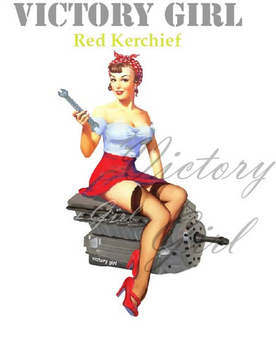 D1126 Red Kerchief Nose Art
