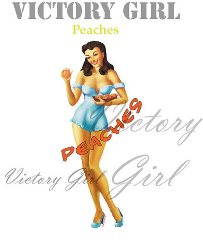 D1154 Peaches Nose Art
