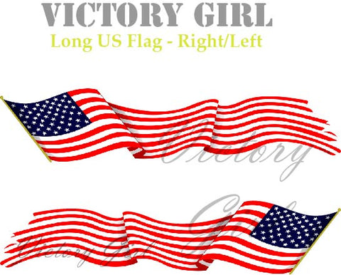 D1196 Long Waving U.S. Flag