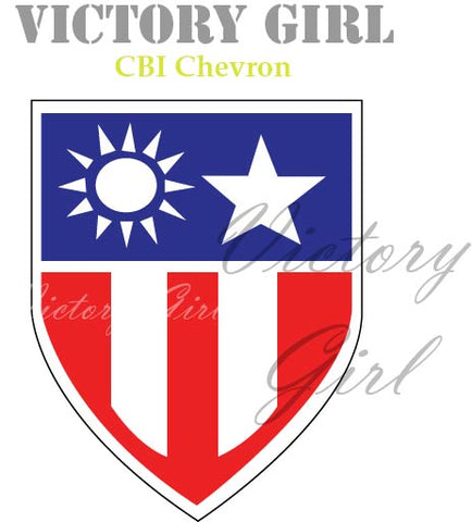 D1267 CBI War Theater Chevron WWII