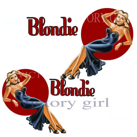 D1268  Blondie Nose Art