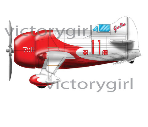 D1285.1 Red and white Gee Bee