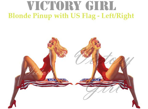 D1293.1 Blonde and U.S. Flag