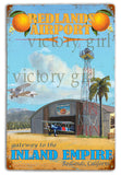 Vintage  Redlands Airport Tin  12 x 18 Distressed