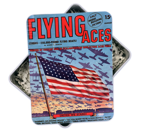 Aug 1942  Vintage 'Flying Aces' Magazine Cover Art Puzzle-500 pcs