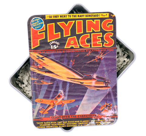 Jan 1939 Vintage 'Flying Aces' Magazine Cover Art Puzzle-500 pcs