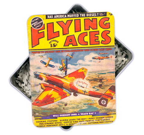 Oct 1938 Vintage 'Flying Aces' Magazine Cover Art Puzzle-500 pcs