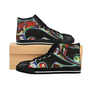 Lounging Woman by Marcos Mata | Men's High-top Sneakers