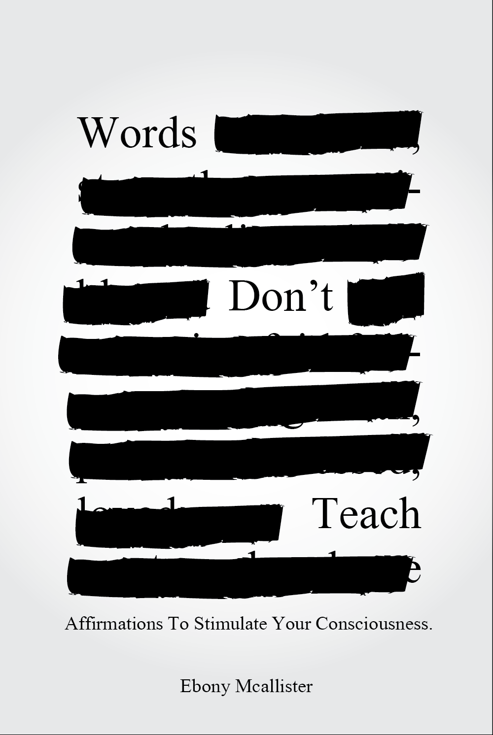 Words Don't Teach Cover Idea by A Mata Designs
