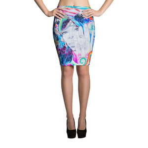 Sour Honey by Damien Mathis Pencil Skirt