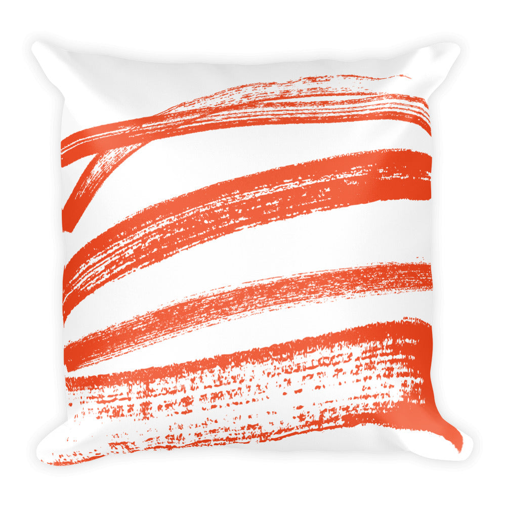 Honey Dripping Orange Square Pillow