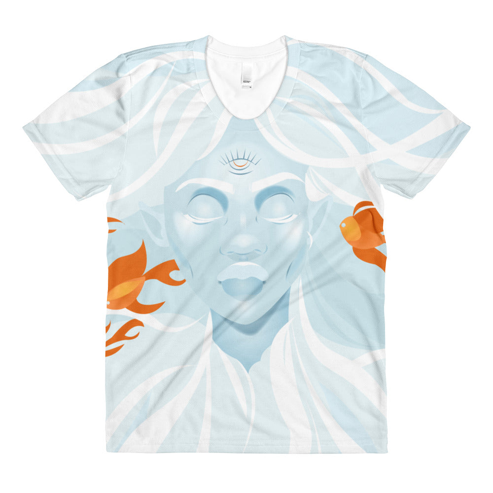 Float On - by April Mata | Women's crew neck t-shirt