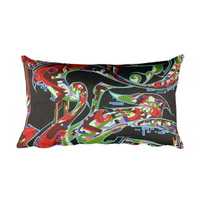 Summer Breeze & Lounging Woman Reversible Rectangular Pillow