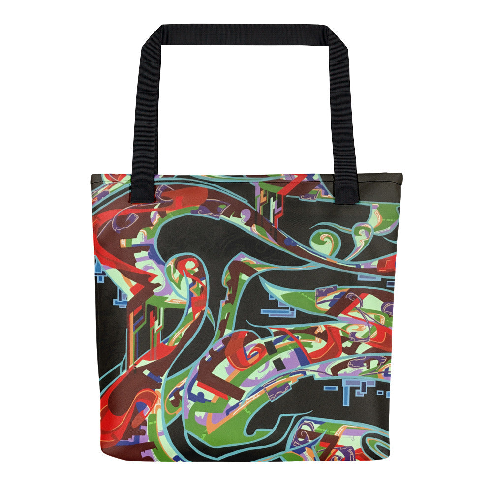 Lounging Woman by Marcos Mata Tote bag