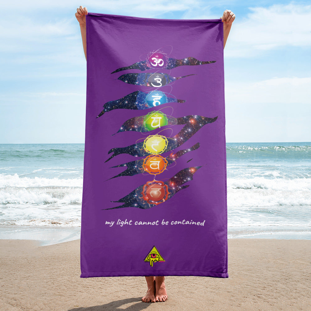 Light Cannot Be Contained Beach Towel