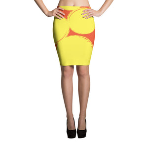 Orange Slice Pencil Skirt