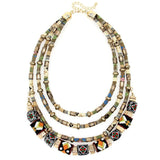 Beaded Multilayer Statement Necklace Bohemian Chic