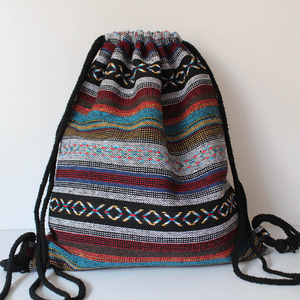 Gypsy Bohemian Boho Chic Vintage Backpack Tribal Fabric