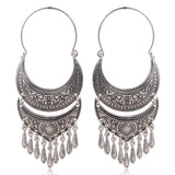 New Gypsy Vintage Antique Silver Or Gold Color Statement Earrings