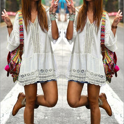 Bohemian Black or White Dress