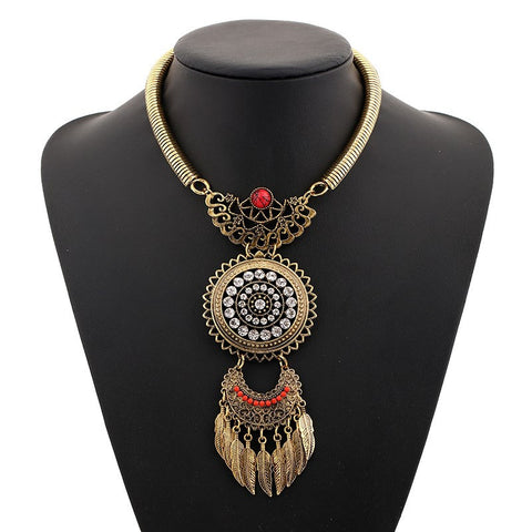 Bohemian Choker Collar Boho Ethnic Statement Necklace
