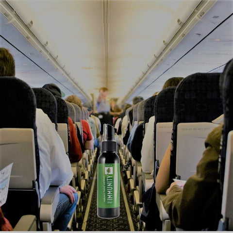Germs on airplanes killed with moko immunity spray