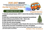 How to treat tick bites after being bitten. Moko Organics' Ticks-Suck Rescue Kit has the steps you need to take after a tick bite. Bring camping and hiking.