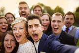 Wedding Party selfies having used ACTIVATED CHARCOAL Teeth Whitening Powder by Moko