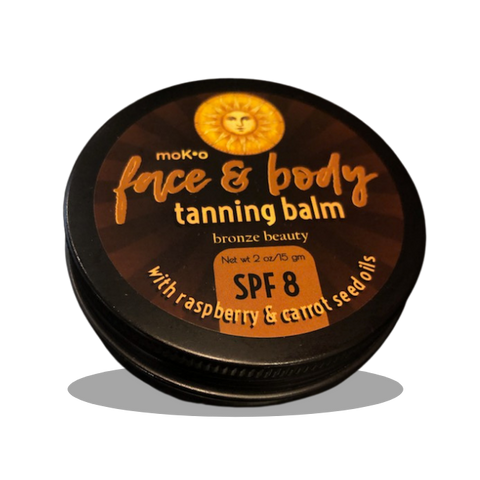 Voted best bronzing balm 2021. Organically-infused bronzing and tanning balm.