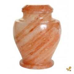 Biodegradable Salt Urn for Ashes for Sea Burials - Brown & Peach, Adult Urn - Divinity Urns