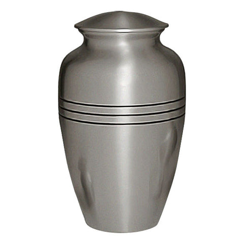Classic Cremation Urn | Pewter Urn - Urn For Ashes in Pewter - Brass, Metal Urn For Ashes - Adult Urn | Divinity Urns