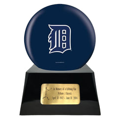Baseball Cremation Urn with Optional Detroit Tigers Ball Decor and Custom Metal Plaque, Baseball - Divinity Urns.