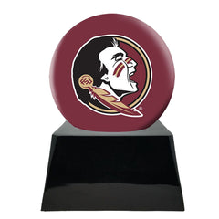 Football Cremation Urn and Florida State University Seminoles Ball Decor with Custom Metal Plaque, Football Team Urns - Divinity Urns
