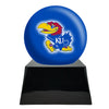 Image of Football Cremation Urn with Optional Kansas Jayhawks Ball Decor and Custom Metal Plaque, Football Team Urns - Divinity Urns