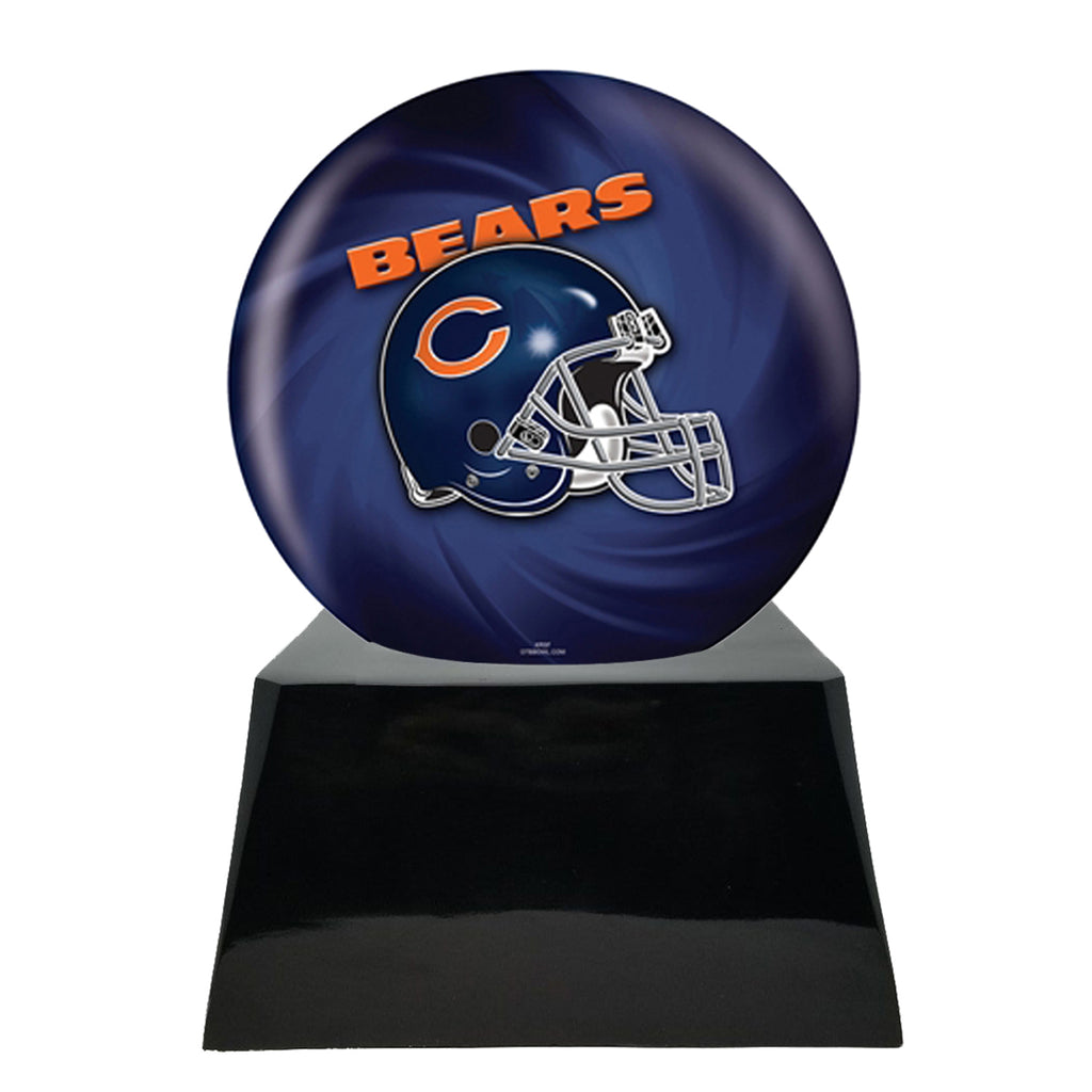 Football Cremation Urn with Optional Chicago Bears Ball Decor and Custom Metal Plaque, Sports Urn - Divinity Urns