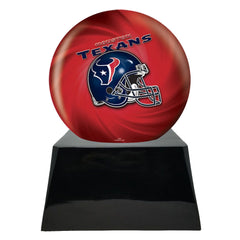 Football Cremation Urn with Optional Houston Texans Ball Decor and Custom Metal Plaque