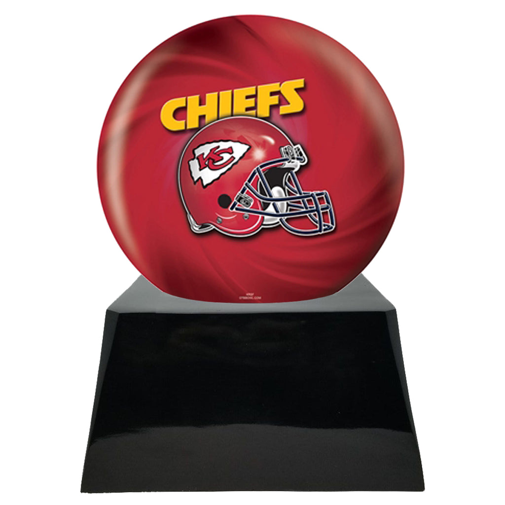 Football Cremation Urn with Optional Kansas City Chiefs Ball Decor and Custom Metal Plaque, Sports Urn - Divinity Urns