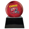 Image of Football Cremation Urn with Optional Kansas City Chiefs Ball Decor and Custom Metal Plaque, Sports Urn - Divinity Urns