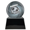 Image of Football Cremation Urn with Optional Oakland Raiders Ball Decor and Custom Metal Plaque, Sports Urn - Divinity Urns