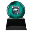 Image of Football Cremation Urn with Optional Philadelphia Eagles Ball Decor and Custom Metal Plaque, Sports Urn - Divinity Urns
