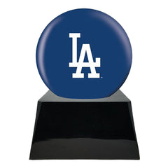 Baseball Cremation Urn with Optional Los Angeles Dodgers Ball Decor and Custom Metal Plaque, Sports Urn - Divinity Urns