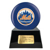 Image of Baseball Cremation Urn with Optional New York Mets Ball Decor and Custom Metal Plaque, Baseball - Divinity Urns.