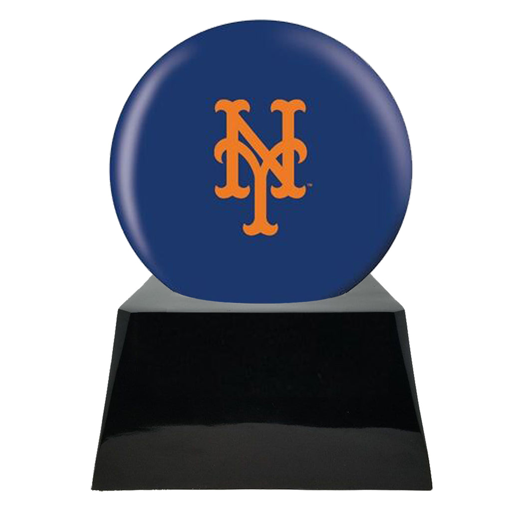 Baseball Cremation Urn with Optional New York Mets Ball Decor and Custom Metal Plaque, Baseball - Divinity Urns.