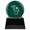 Image of Baseball Cremation Urn with Optional Oakland Athletics Ball Decor and Custom Metal Plaque, Baseball - Divinity Urns