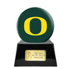 Image of Football Cremation Urn with Optional Oregon Ducks Ball Decor and Custom Metal Plaque, Football Team Urns - Divinity Urns