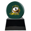 Image of Football Cremation Urn with Optional Oregon Ducks Ball Decor and Custom Metal Plaque, Football Team Urns - Divinity Urns.