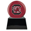 Image of Football Cremation Urn with Optional South Carolina Gamecocks Ball Decor and Custom Metal Plaque, Football Team Urns - Divinity Urns.