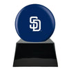 Image of Baseball Cremation Urn with Optional San Diego Padres Ball Decor and Custom Metal Plaque, Baseball - Divinity Urns