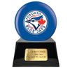 Image of Baseball Cremation Urn with Optional Toronto Blue Jays Ball Decor and Custom Metal Plaque, Sports Urn - Divinity Urns
